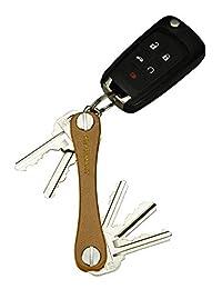 KeySmart Leather - Compact Key Holder & Pocket Keychain Organizer