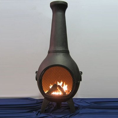 Aluminum Wood Prairie Chiminea Finish: Charcoal by Blue Rooster