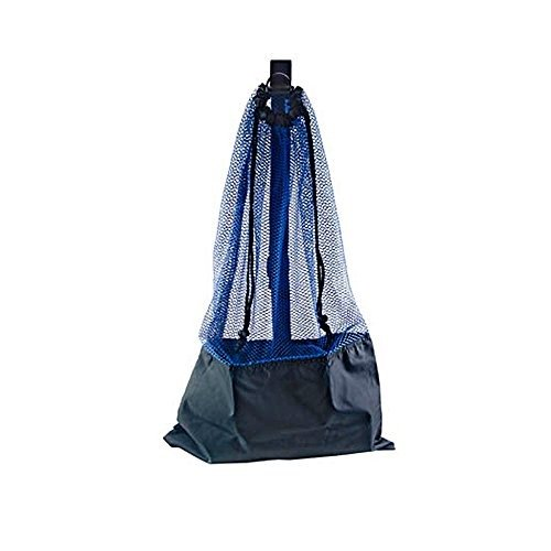 BLUE SNORKEL BAG! MESH DRAW STRING W/ SHOULDER STRAP