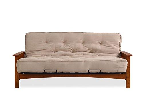 Oak Futon Mattress - Sofas 2 Go SI-EX-DEN-VO-1T Denver Vintage Oak Futon Frame W/ 6