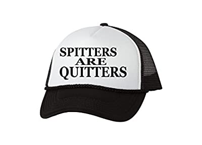 Rogue River Tactical Funny Trucker Hat Spitters Are Quitters Fishing Baseball Cap Retro Vintage Joke