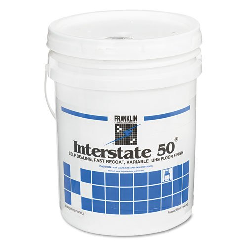 Cube Gallon Floor Finish 5 (Franklin Cleaning Technology Interstate 50 Floor Finish, 5 gal Cube - Includes one each per case.)