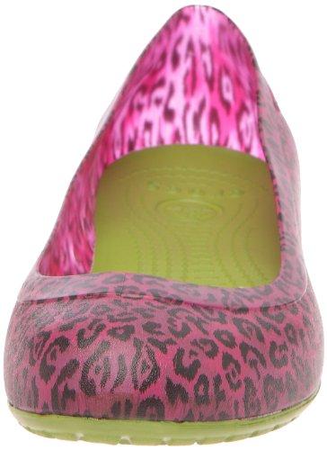 Brushed Green Ballet Fuschia Parrot Women's Leopard Crocs Print Flats Carlisa 5xzSqwHC