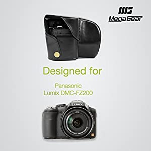 "MegaGear ""Ever Ready"" Protective Leather Camera Case, Bag for Panasonic DMC-FZ200"