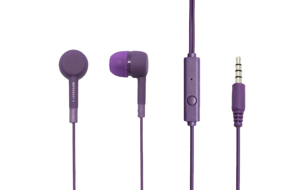 Qilive Q.1849 Dentro de oído Binaural Alámbrico Púrpura: Amazon.es ...
