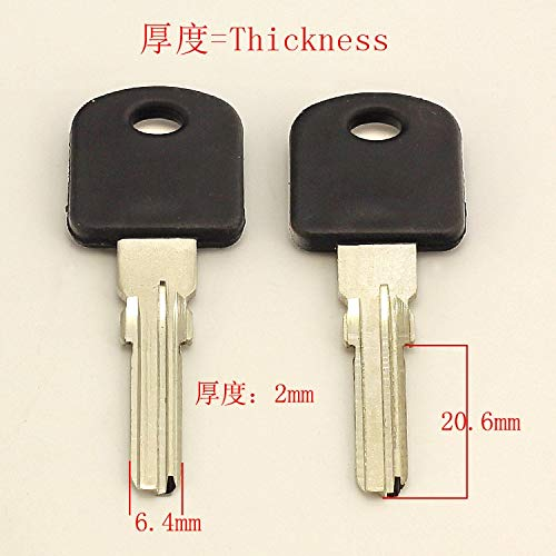 B207 Glue Wire Embryo Left Blank Key 20 Pieces Lot