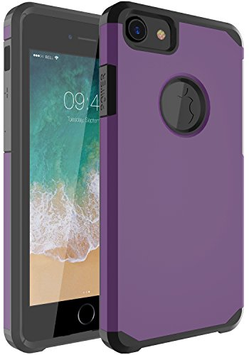 iPhone 7 Case, OUBA [Anti-Drop] Hybrid Defender Dual Layer Shockproof Rugged Premium Protective Case Cover for Apple iPhone 7 - Purple