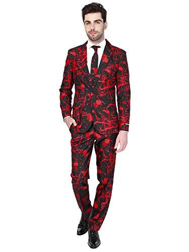 Suitmeister Halloween Costumes for Men - Black Blood - Include Jacket Pants & Tie