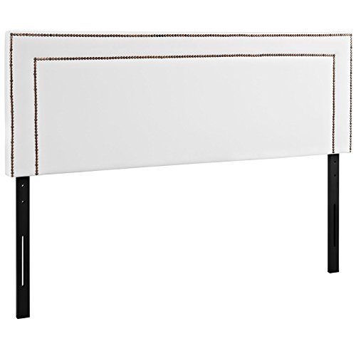 Modway Jessamine Upholstered Vinyl Headboard Full Size With Nailhead Trim In (Vinyl Upholstered Bed)