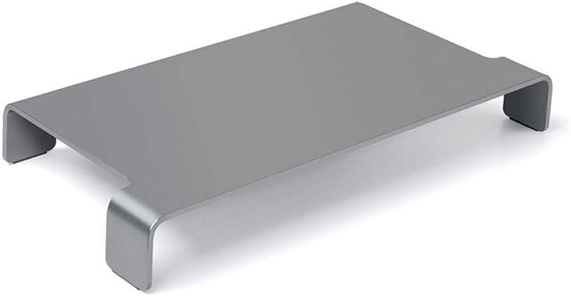 Soporte para monitor Aumentar Soporte para monitor Escritorio Aleación de aluminio Fácil de limpiar Teclado Rack de almacenamiento para computadora portátil Impresora Máquina de fax Computad
