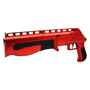 KMD Wii Buckshot with Intergrated Analog Controller Chrome Red