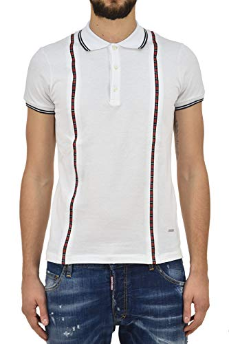 DSQUARED2 Polo Shirt Tartan White Men - Size: M - Color: White - New