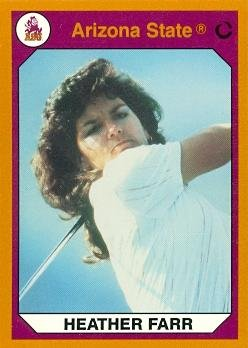 (Heather Farr Golf Card (Arizona State) 1990 Collegiate Collection #63 )