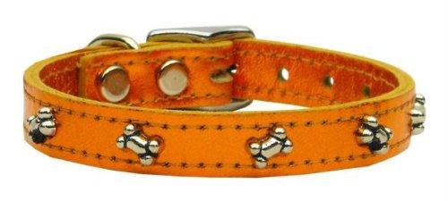 - Mirage Pet Products Metallic Bone Leather Dog Collar, 20