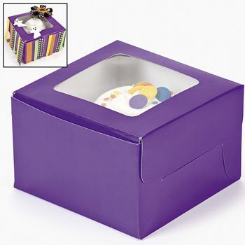 Fun Express Dozen Purple Cupcake Boxes