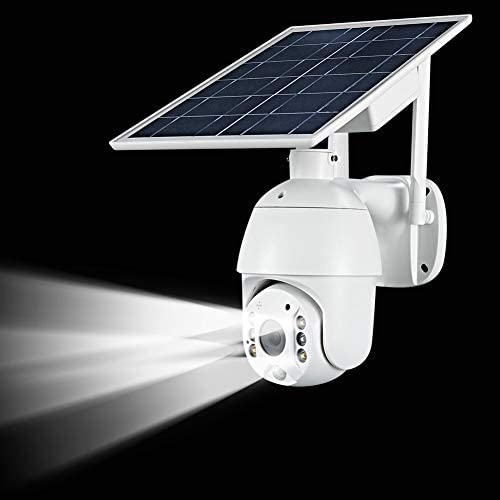 100% WIRE-FREE WIRELESS RECHARGEABLE BATTERY SOLAR POWERED OUTDOOR 1080P PAN TILT WIFI SECURITY CAMERA PIR MOTION RECORDING TWO-WAY AUDIO IP65 WEATHERPROOF NIGHT VISION BUILT-IN SD SLOT AT-S600
