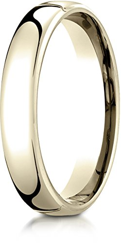 Benchmark 14K Yellow Gold 4.5mm European Comfort-Fit Wedding Band Ring, Size 6