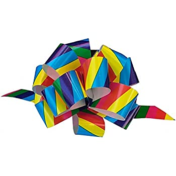 """Rainbow Decorative Gift Pull Bows - 5"""" Wide, Set of 10, Christmas Ribbons for Presents"""