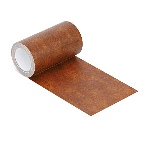 Onine Leather Repair Tape Patch Leather Adhesive for Sofas, Car Seats, Handbags, Jackets,First Aid Patch (Whiskey Leather)