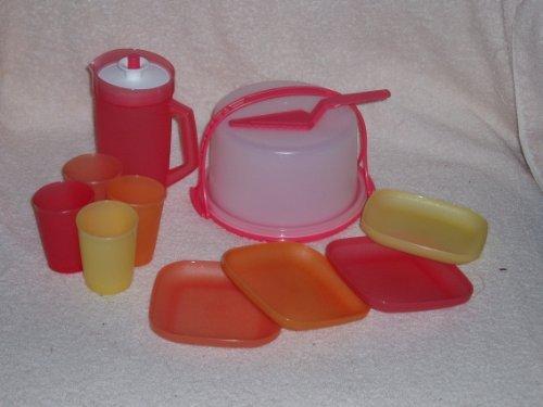 Tupperware Mini partie mettre 11 Pc Kids plats