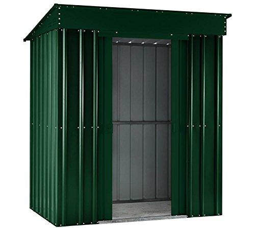 GLOBEL Industries metal jardín cobertizo Jardín Hogar 6 x 4 verde con base de acero//184 x 123 x 198 cm (Alto)//cobertizo metal Pult techo: Amazon.es: ...
