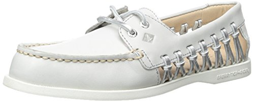 Sperry Top-Sider Women's A/O Haven Boat Shoe, Light Grey, 9.5 M US