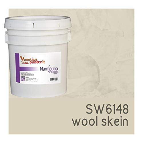 FirmoLux Marmorino Berlina Venetian Plaster   Smooth Plaster   Made in Italy from Lime, Marble & Other Natural Aggregates   Light Tan Colors (5)   Color: SW6148 Wool Skein