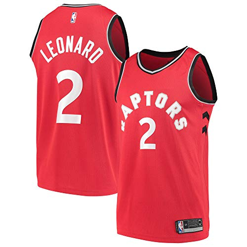 Majestic Athletic Men's Toronto Raptors # 2 Kawhi Leonard Jersey - Red (M)