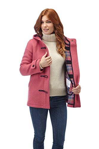 Women's Leyton Classic Short Duffle Coat Horn Toggles Pink-M