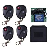 WOSOSYEYO Relay DC12V 7A 1CH Wireless Remote Control Switch Transmitter Receiver System(Color:Black)