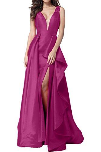 A mit Schleppe Abendkleider Applikationen Rueckenfrei Cocktailkleider Partykleider Asymmetrisch Ausschnitt Pink Damen Vintage Traeger Ivydressing Promkleider Linie V 6OvwYx