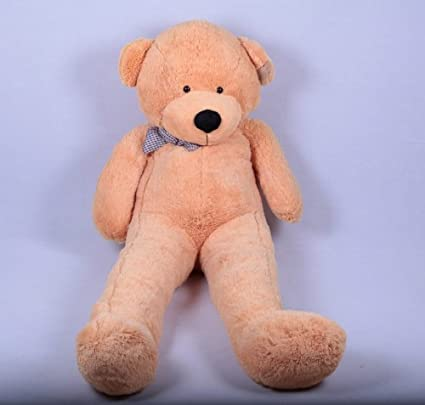 US 200cm Dark Brown Big Teddy Bear For Christmas Gift Huge Stuffed Toy Cover