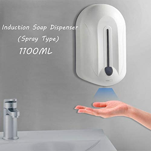LZH FILTER 1100ML Non-Contact Automatic Soap Dispenser Touchless Wall-Mounted Automatic Induction Soap Dispenser Automatic Induction Sterilization