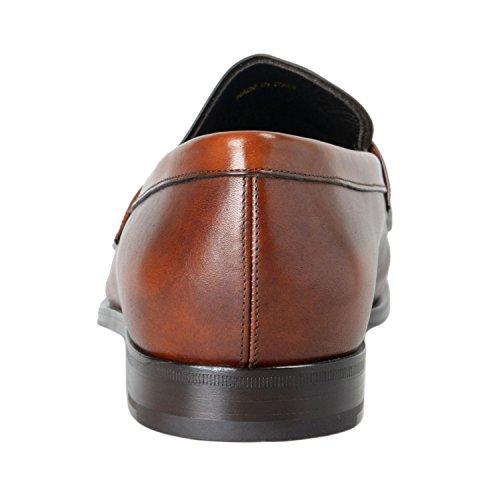 Los Holgazanes De Cuero De Prada Hombres Deep Brown Se Deslizan En Los Zapatos Us 12 It 11 Eu 45