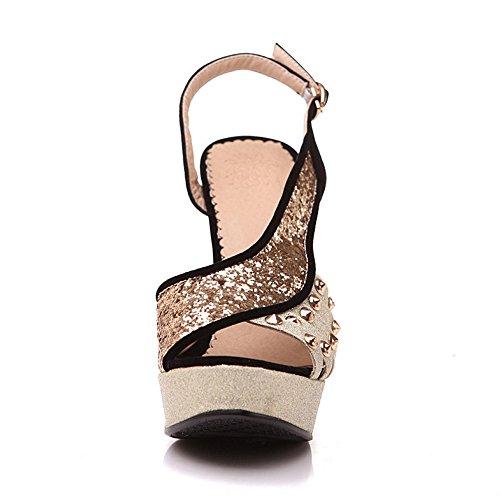 mujer negro hebilla zapatos Coolcept sandalias correa Sdp5WT