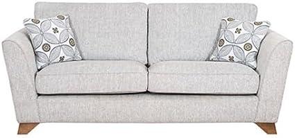 Buoyant Homeflair Designer Fabric Grey Henderson 3 Seater Sofa Amazon Co Uk Kitchen Home