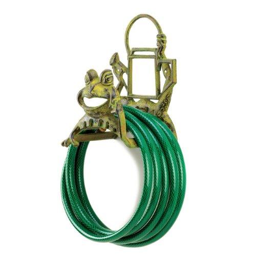 (Koehler Home Decorative Cast Iron Frolicking Frog Garden Yard Hose)