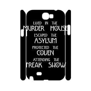 DIY American Horror Story 3D Plastic Case for SamSung Galaxy note2 n7100, Custom American Horror Story 3D Note2 Shell Case, Personalized American Horror Story 3D n7100 Cover Case