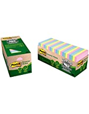 Post-it Greener Notes, America's #1 Favorite Sticky Note, 3 in x 3 in, Helsinki Collection, 24 Pads/Cabinet Pack (654R-24CP-AP)