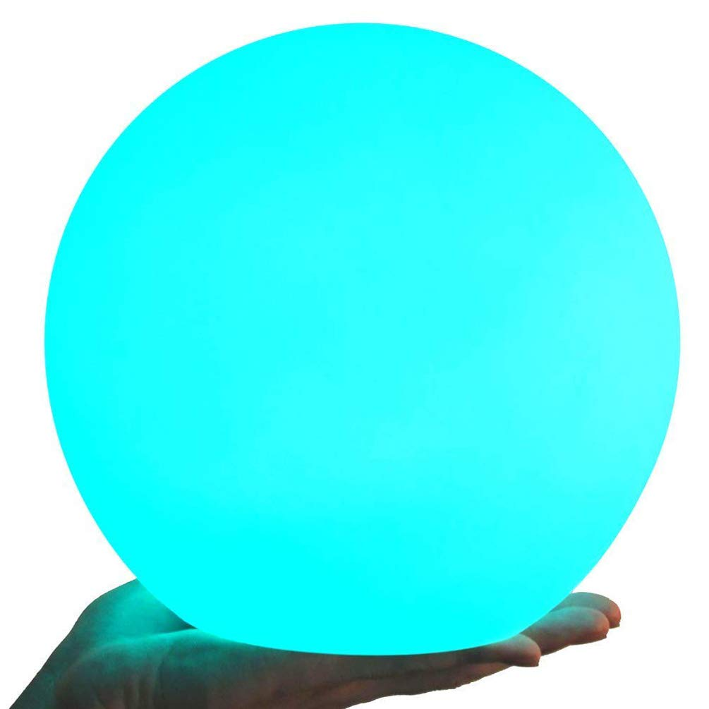 AbbottoKaylan 11.8-inch Rechargeable Color-changing LED Ball Light Globe Orb Lamp w/Remote,Floating Pool Lights,IP68 Waterproof,Home Kids Room Adult Bedroom Bar Table Patio Pool Party Dimmable Nightli