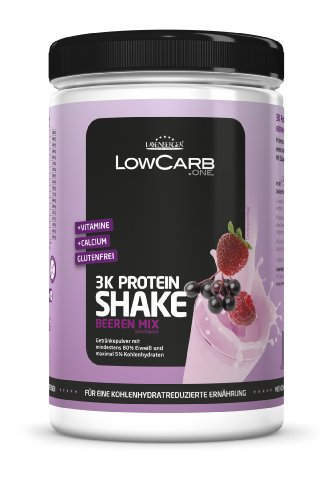 Layenberger LowCarb.one 3K Protein-Shake Beeren Mix, 1er Pack (1 x 360 g)