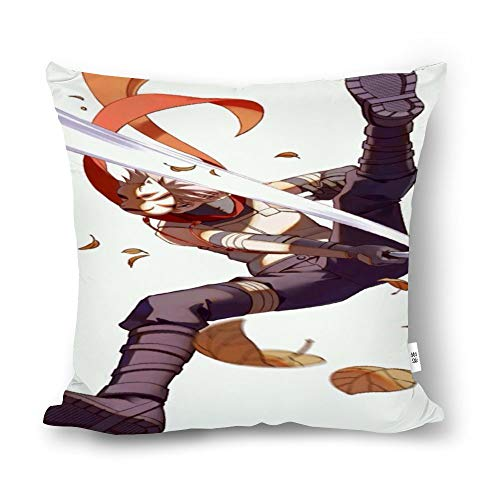 nvfjb Decorated Cotton and Linen Throw Pillow Animation Naruto Hatake Kakashi sdhs,Classic Animation,Adult Unisex Crew 4545cm