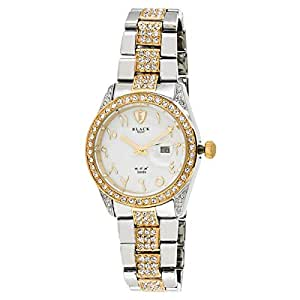 Black Royale Unisex White Dial Brass Band Watch - BR2015GTTW