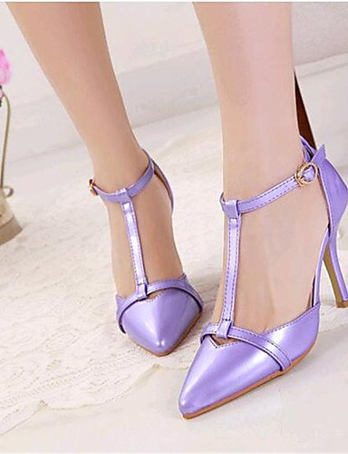 Tacones uk4 Semicuero purple ZQ mujer us6 purple cn39 7 eu39 Tac¨®n us8 uk6 us8 5 Noche Stiletto cn39 purple eu37 y Zapatos 5 Tacones eu39 Morado Fiesta cn37 de 5 uk6 Rosa wvqfY
