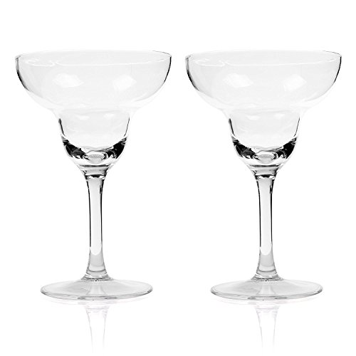 Beautyflier Pack of 2 Inch 9 Ounce Clear Acrylic Margarita Glasses 265 Milliliter