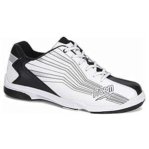 Storm Mens Prizm Bowling Shoes (10 M US, White/Black/Silver)