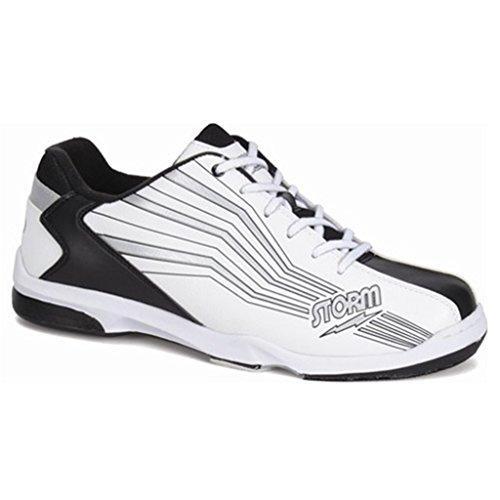 Chaussures De Bowling Prizm Tempête Pour Hommes (15 M Us, Blanc / Noir / Argent)