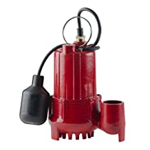 Red Lion RL-SC33T 1/3-HP 3600-GPH Sump Pump with Tethered Float Switch and 1/2-Inch Solids, Cast Iron