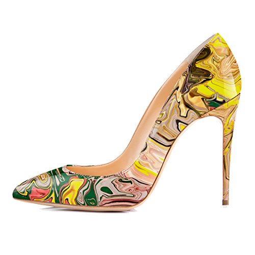 Yellow High Heel Pumps - 9