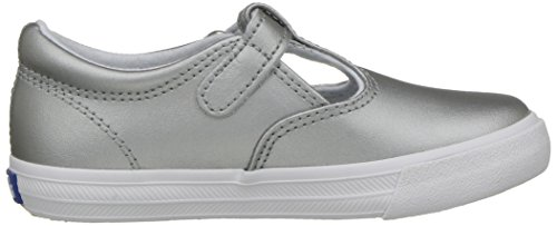Keds Daphne T-Strap Sneaker (Toddler/Little Kid), Silver/Silver, 5.5 M US Toddler by Keds (Image #7)